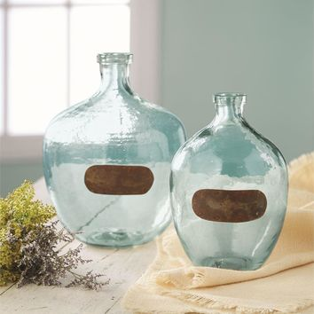 Vintage Style Glass Vases