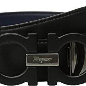 Salvatore Ferragamo  Men's Adjustable/Reversible Belt - 679710 Nero 32