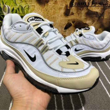 auguu 2018 Nike Air Max 98 Fashion Causal Running Shoes Grey