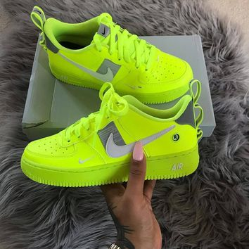 NIKE AIR FORCE 1 AF1 OW Running Sport Shoes Sneakers 1b2191283