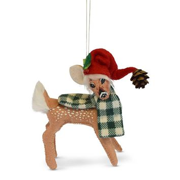 Annalee Dolls 5in 2018 Christmas Northwoods Fawn Ornament New with Box