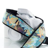Camera Strap, Tropical Ocean Fish, dSLR, SLR, Mirrorless, Canon, Nikon, Sony, Pentax, Minolta, Digital, SCUBA,  101 a