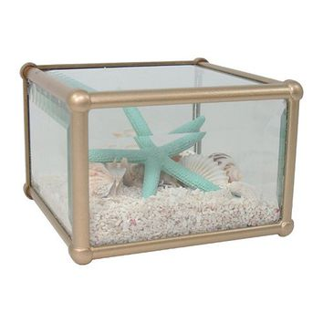 SONOMA life + style® Faux Shell Glass Decoration Box