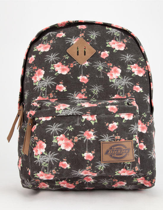 4ae4078c0d12 Dickies Hawaiian Canvas Backpack Black Combo One Size For Women 26663414901