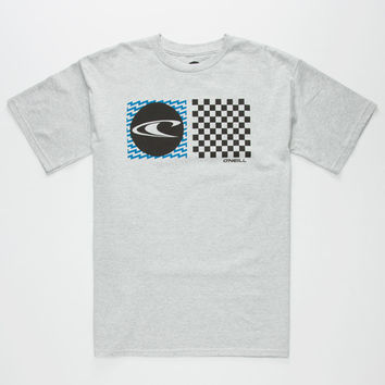O'neill Stateside Mens T-Shirt Light Gray  In Sizes