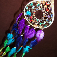 Dream Catcher- Chakra Love- Devils Claw Dream Catcher- Beautiful Feather Work- Made to Order