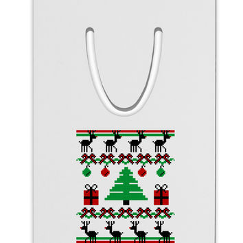 Tree with Gifts Ugly Christmas Sweater Aluminum Paper Clip Bookmark