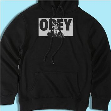 They Live Black Obey Men'S Hoodie