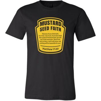 Inspirational Christian Mustard Seed Faith Bible Verse T-Shirt