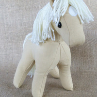 """MADE TO ORDER Canvas Colt """"Palomino Star"""" Plush Horse"""