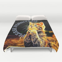 Please forgive me Duvet Cover by Store2u