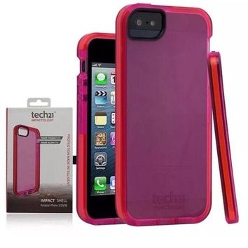Brand New Geniune TECH21 IMPACT SHELL Case - iPhone 5/ 5S - PINK