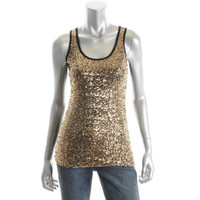 INC Womens Racerback Sequined Tank Top