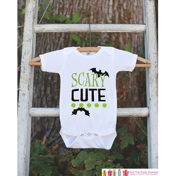 Kids Halloween Shirt - Scary Cute Shirt - Happy Halloween Tshirt or Onepiece - Baby Girl or Boy Halloween Outfit - Kids Halloween Costume