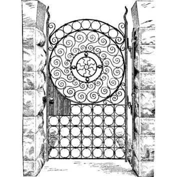 Ornate Iron Gate Plastisol Heat Transfer