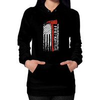 Fashions firefighter Hoodie (on woman)