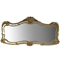 Pre-owned Wide  Floral Motif Gilt Mirror