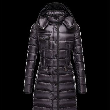 Moncler HERMINE Ultralight Turtleneck Black Coats Nylon Womens 41378010UM