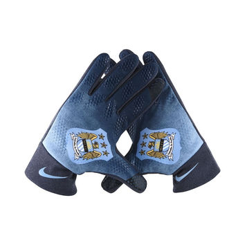 Nike Men's Manchester City Dark Blue Football Stadium Gloves