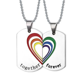 Together Forever Dog Tag (2 Necklaces)