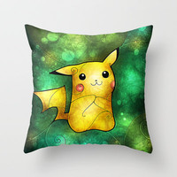 Pika Throw Pillow by Mandie Manzano | Society6