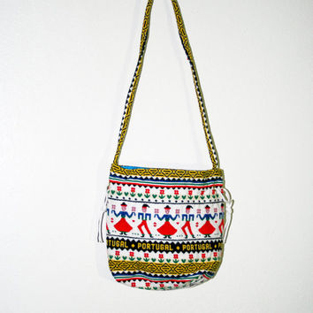 vintage purse, portugal portugese tribal bag, travel acsessories, retro fashion, hipster soft grunge accessory