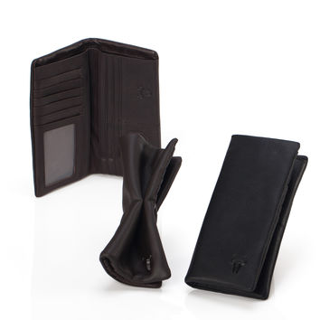 Leather Wallet Men Phone Lock [9026285379]