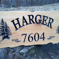 Cedar Sign, Outdoor Sign, Home Sign, Carved Sign, Personalized Sign, Personalized Cedar Sign