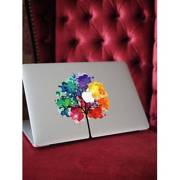 Colorful Tree MacBook Decal