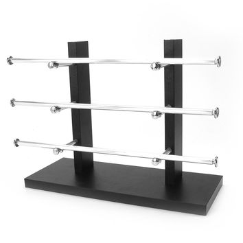 3 Layer Black Vintage Sunglasses Eye Glasses Rack Display Stand Holder Organizer