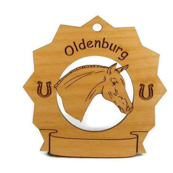 8198 Oldenburg Horse Personalized Wood Ornament
