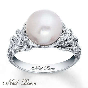 Neil Lane Designs Cultured Pearl Ring 14K White Gold
