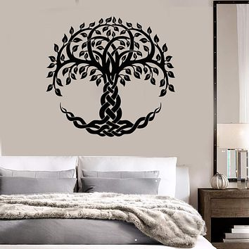 Vinyl Wall Decal Celtic Sacred Tree Of Life Ethnic Style Symbol Stickers Unique Gift (1478ig)