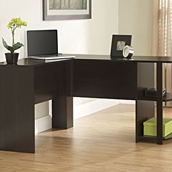 ameriwood office l shaped desk with 2 from amazon room. Black Bedroom Furniture Sets. Home Design Ideas