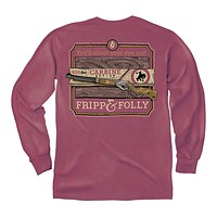 You'll Shoot Your Eye Out Long Sleeve Tee in Brick by Fripp & Folly - FINAL SALE