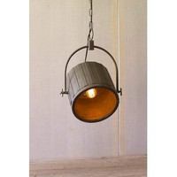 Adjustable Pendant Light With Antique Brass Finish