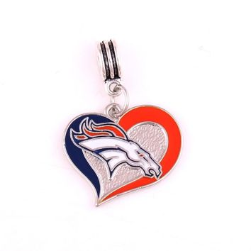 Steeler Patriots Dallas Cowboys Broncos San Francisco 49ers  Seattle Seahawks  Beads Charms fit Bracelet or bangle pendant