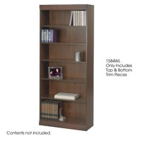 "Safco Products 1584WL Square-Edge Bookcase Trim Kit, 36"" Wide (Bookcase sold separately), Walnut"