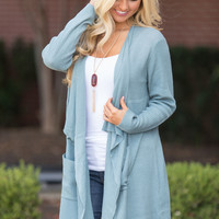 Hold On To This Love Cardigan Faded Blue