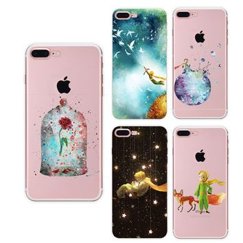 Fashion Little Prince Le Petit TPU Soft Case Skin Coque Shell Cover capa para phone Cases for Apple iphone 5 5s 6 6s 7 8 X Plus