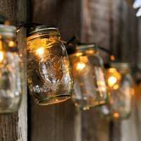 Mason Jar Strand with Light - Full Pint