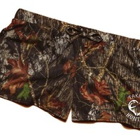 Take Me Huntin' Mossy Oak Soft Shorts For Women / Juniors (Medium, Camo)