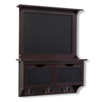 Threshold™ Chalkboard Wall Organizer with Drawers and Hooks - Espresso