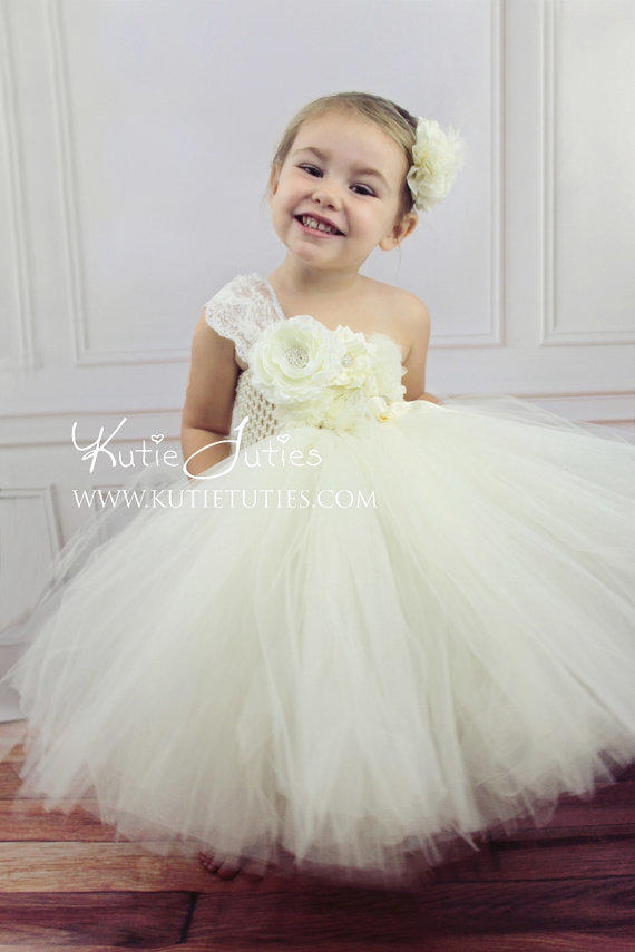 oh sweet ivory tutu dress flower girl from kutietuties on etsy. Black Bedroom Furniture Sets. Home Design Ideas