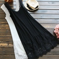 Cupshe Night Whisper Lace Slip Dress