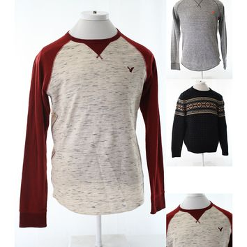 American Eagle Outfitters mens sweater size L Large sweatshirts Thermal