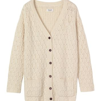 Women's Aran Cardigan in Knitwear
