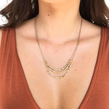 Bare & Square Gold Layered Necklace