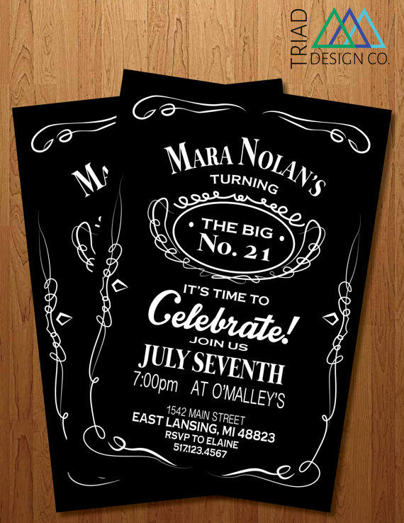 printable invitation 21st birthday from triad design co