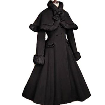 Gothic Lolita Coat Adult Princess Costume Historical Coat Long Women Plus Size Custom